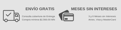 ¡Envío Gratis + 6 MSI!